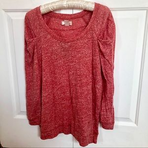 NWT Route 66 3/4 sleeve speckled pleated shirt